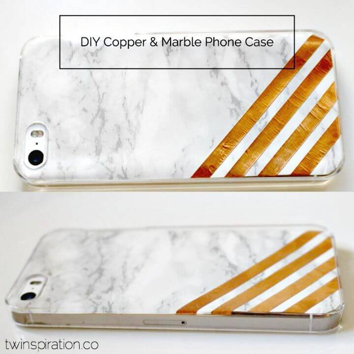 How to Make Copper & Marble Phone Case - DIY