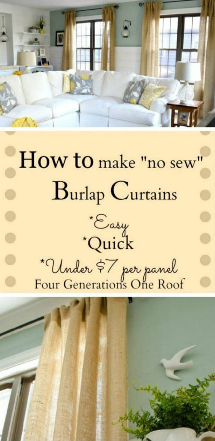 How to Make Curtains Using Burlap
