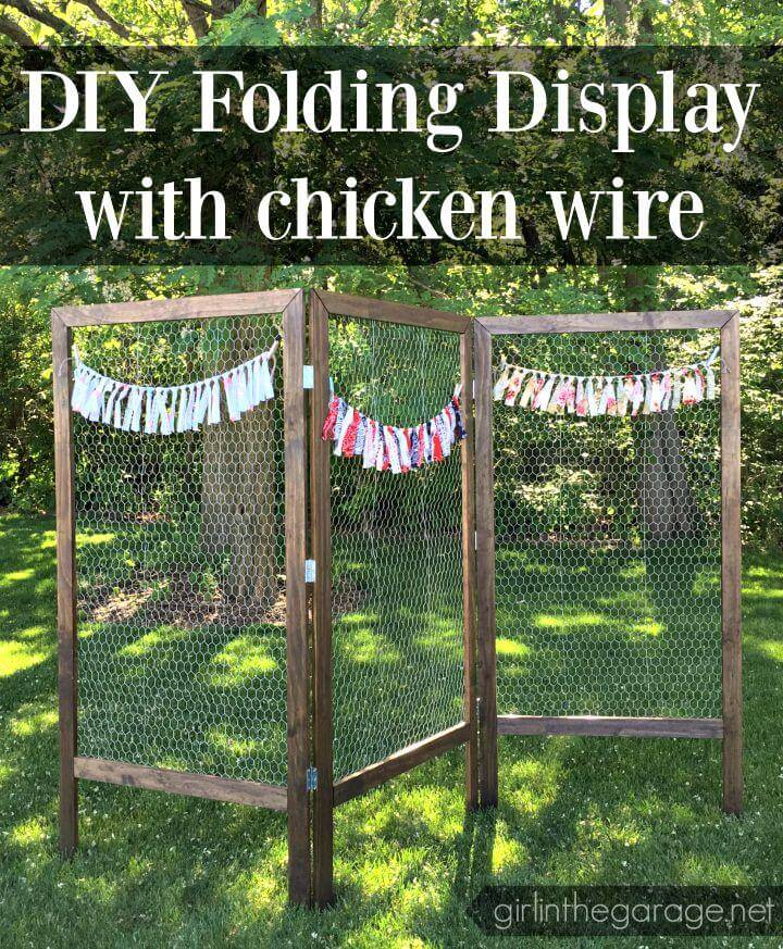 DIY Folding Display with Chicken Wire