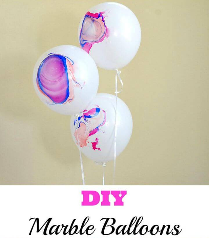 How to Make Marble Balloons - DIY