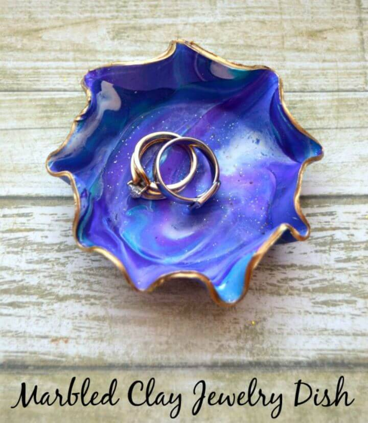 How to Make Marbled Clay Jewelry Dish