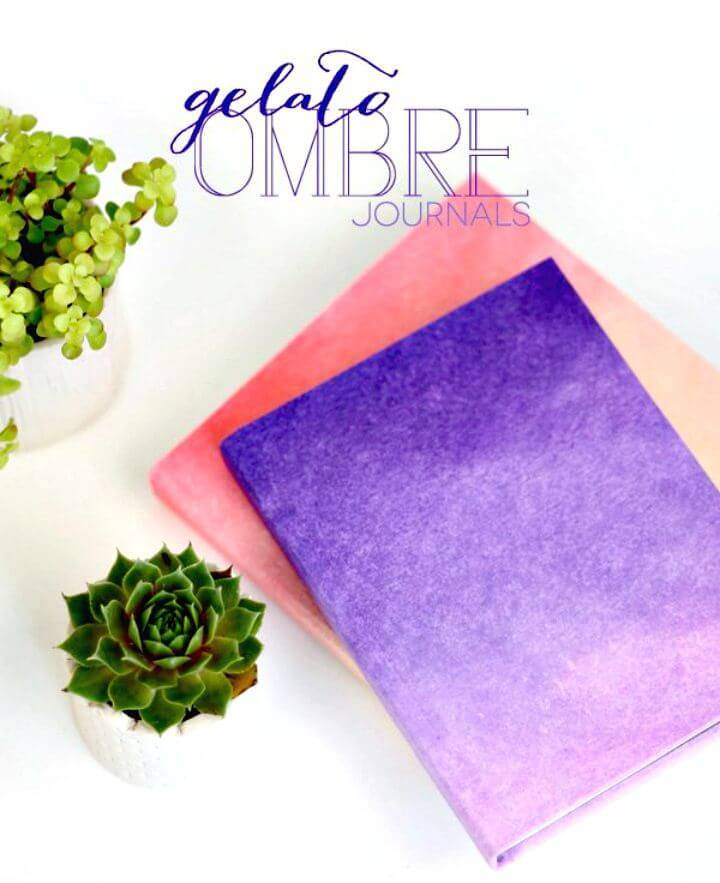 Easy DIY Ombre Journals Cover