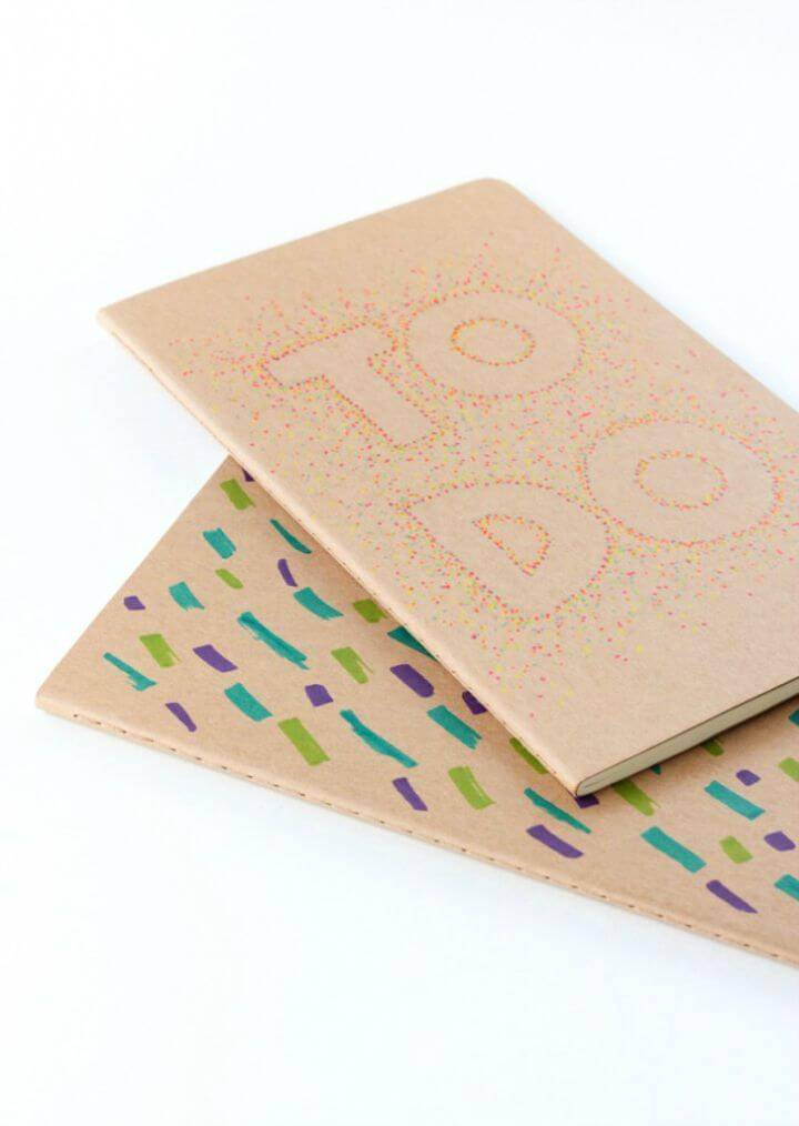Make Pointillism Notebook with Sharpie - DIY