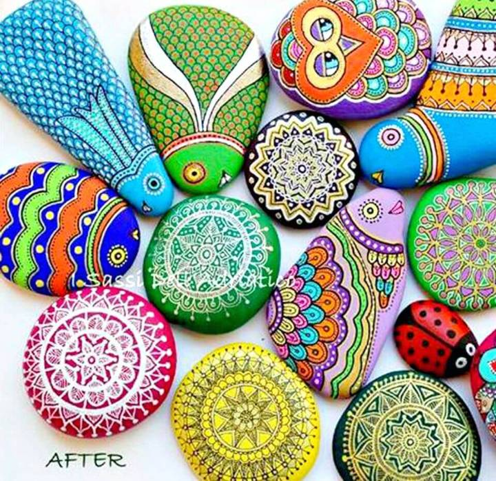 How to DIY Sharpie Painted Rocks
