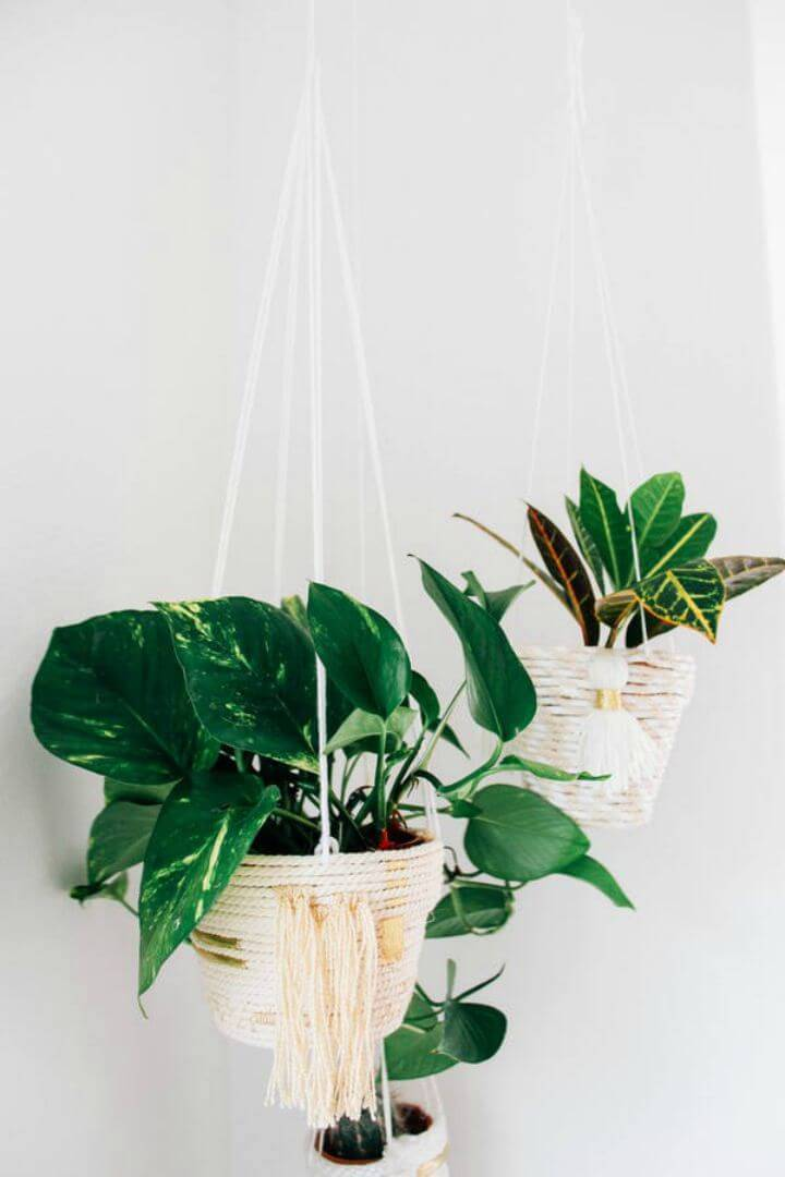 DIY Hanging Rope Planters