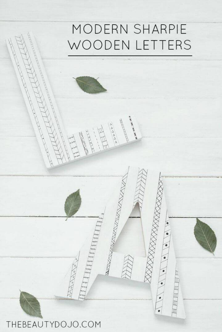 Modern DIY Sharpie Wooden Letters