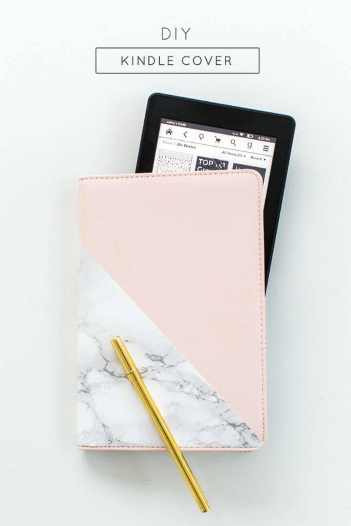 Pretty DIY Kindle Or Tablet Cover