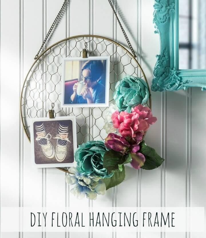 Quick DIY Floral Hanging Frame