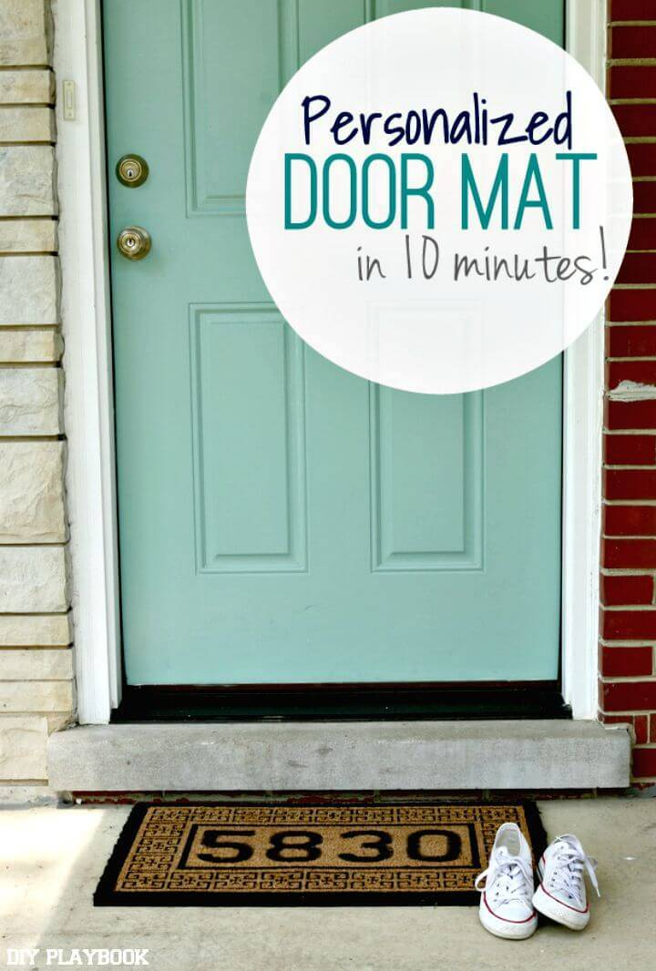 How to DIY Personalized Doormat