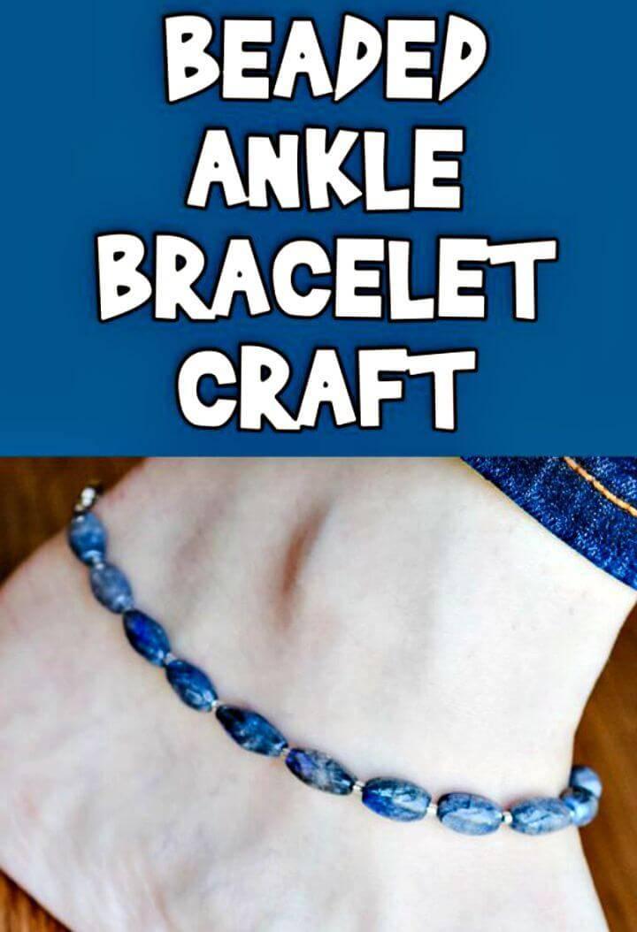 Simple DIY Beaded Ankle Bracelet