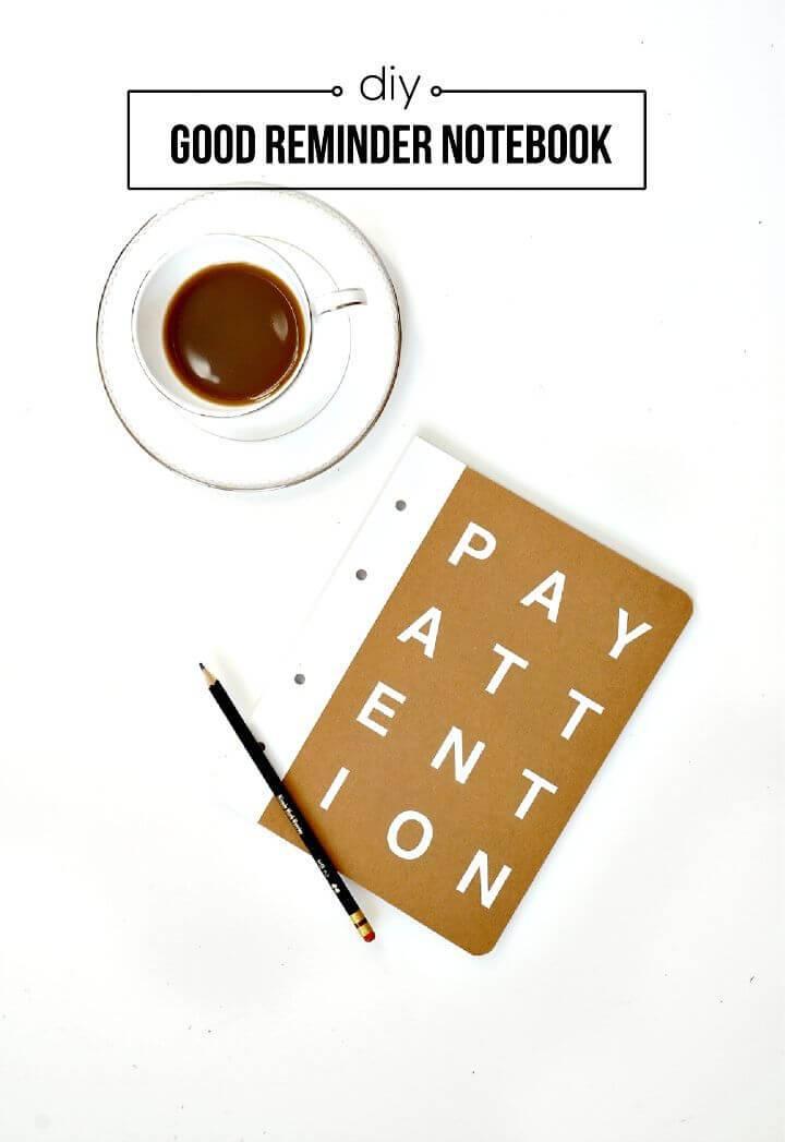 DIY Good Reminder Notebook Cover