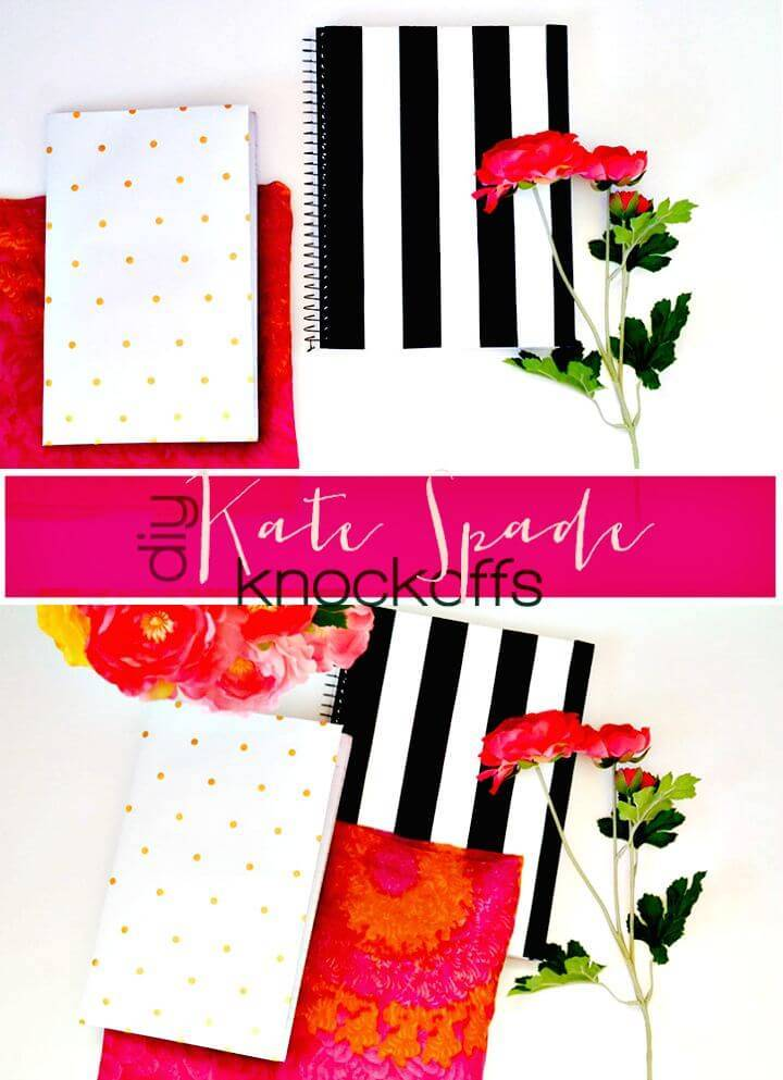 Easy DIY Kate Spade Knockoff Notebooks
