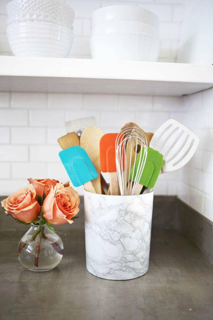 How to Make Marble Utensil Holder