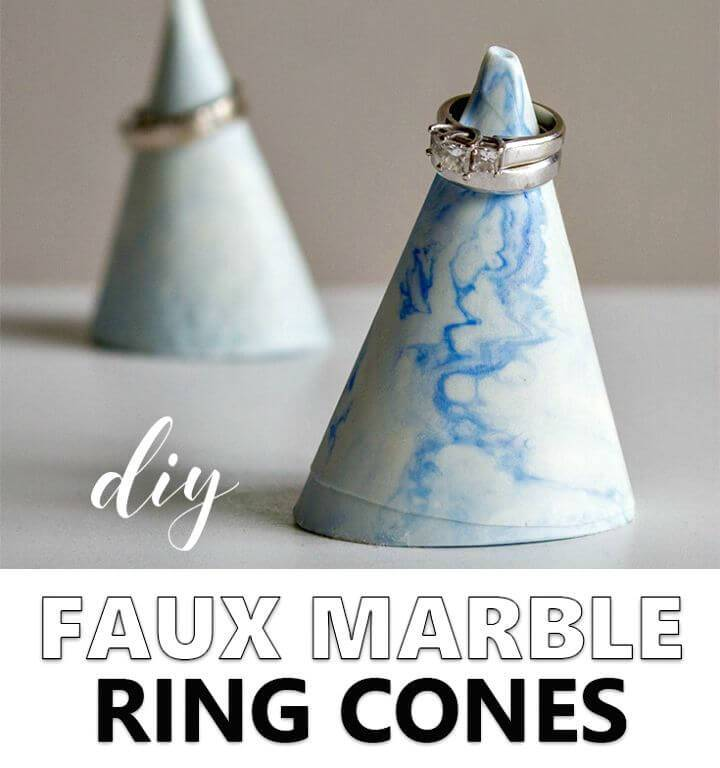 Stylish DIY Faux-marble Ring Cone