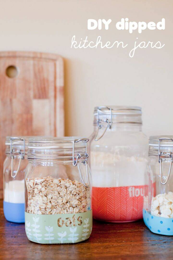 How to Make Dipped Kitchen Jars - DIY