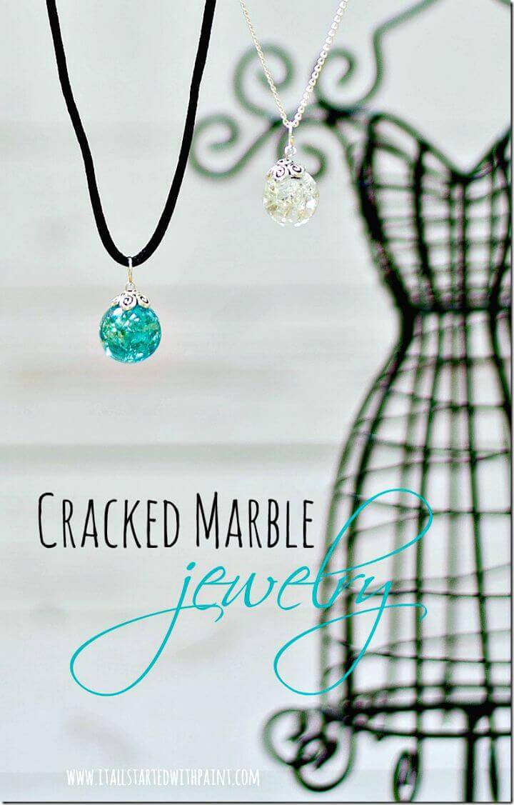 Wonderful DIY Cracked Marble Jewelry
