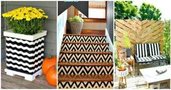 25 DIY Craft and Home Decor Ideas with Chevron Pattern, DIY Home Decor Projects, DIY Craft Ideas, DIY Projects, DIY Ideas, Chevron Projects and Crafts