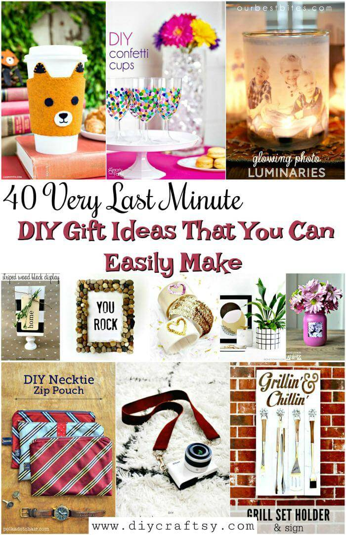 40 Very Last Minute Diy Gift Ideas That You Can Easily Make Diy