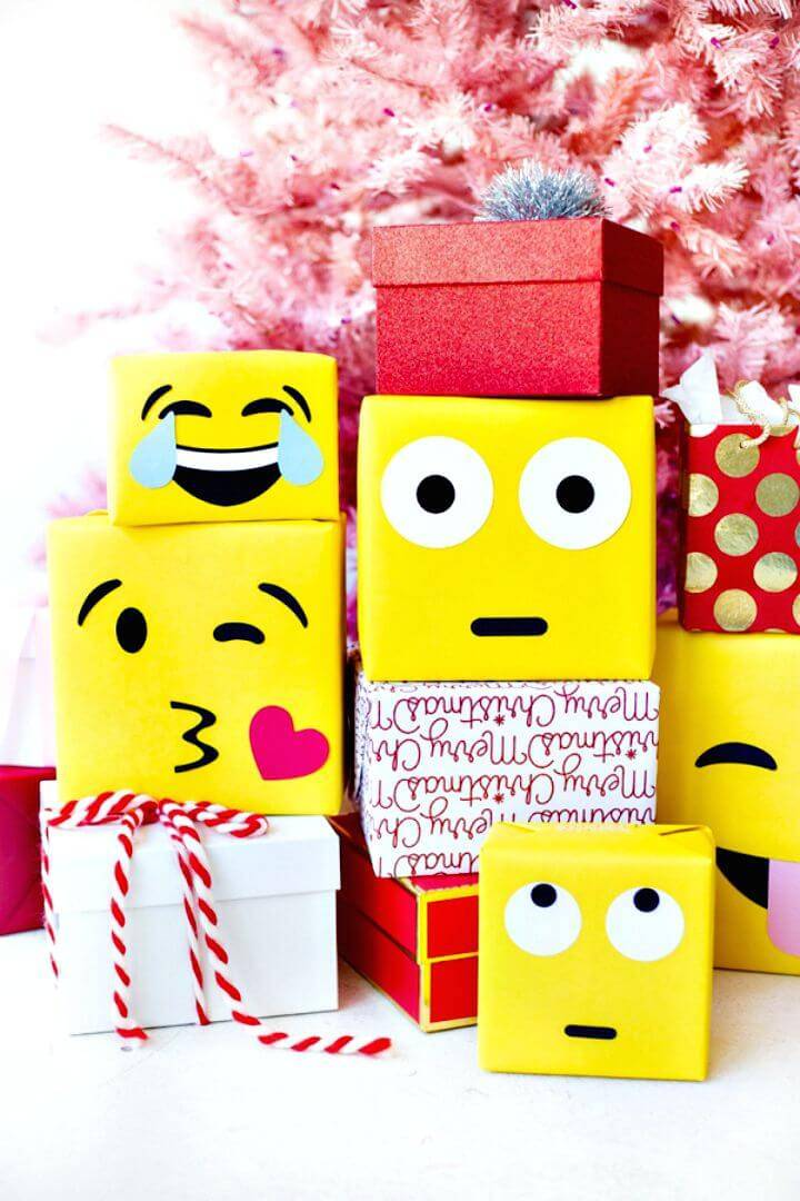 Amazing DIY Emoji Gift Wrap