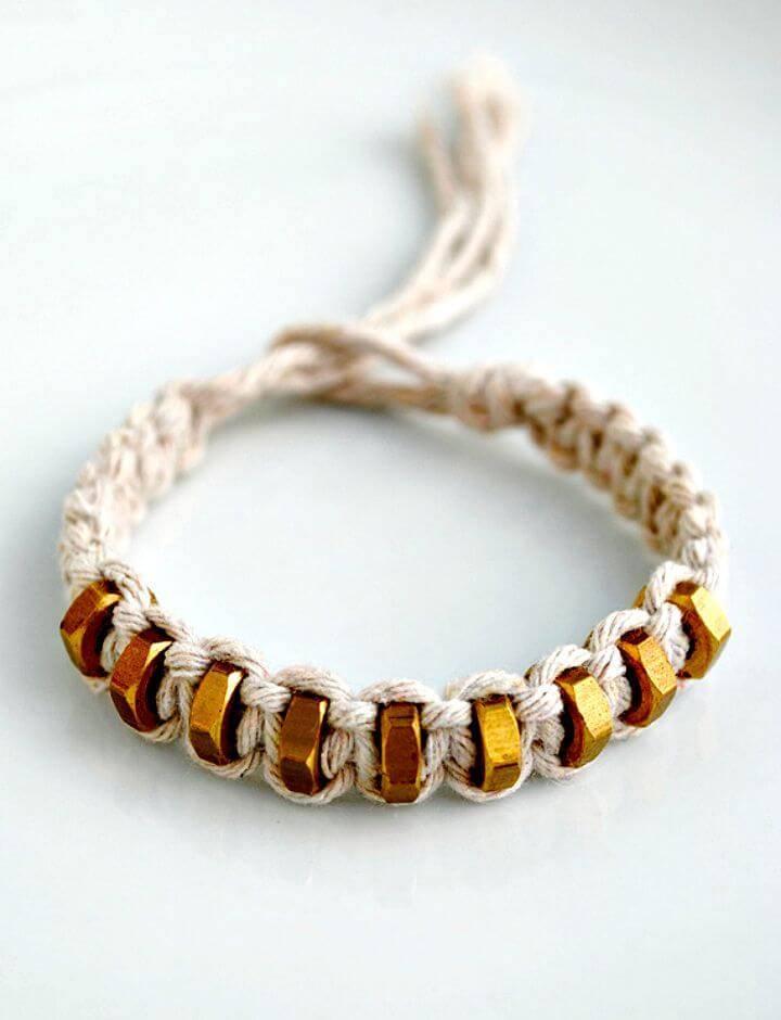 DIY Macrame Square Knot Bracelet