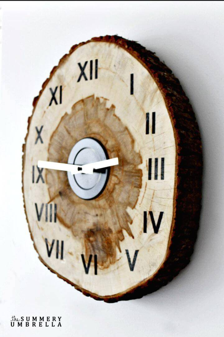 Amazing DIY Wood Slice Clock
