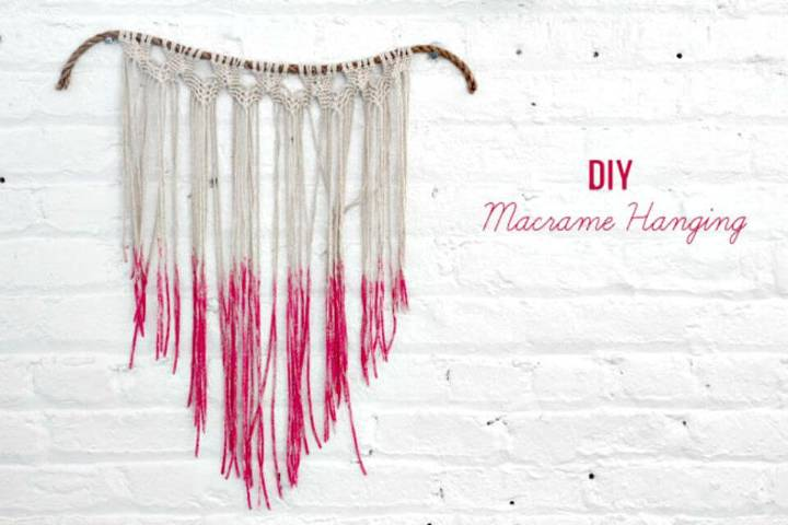 How to Make a Macrame Hanging - DIY