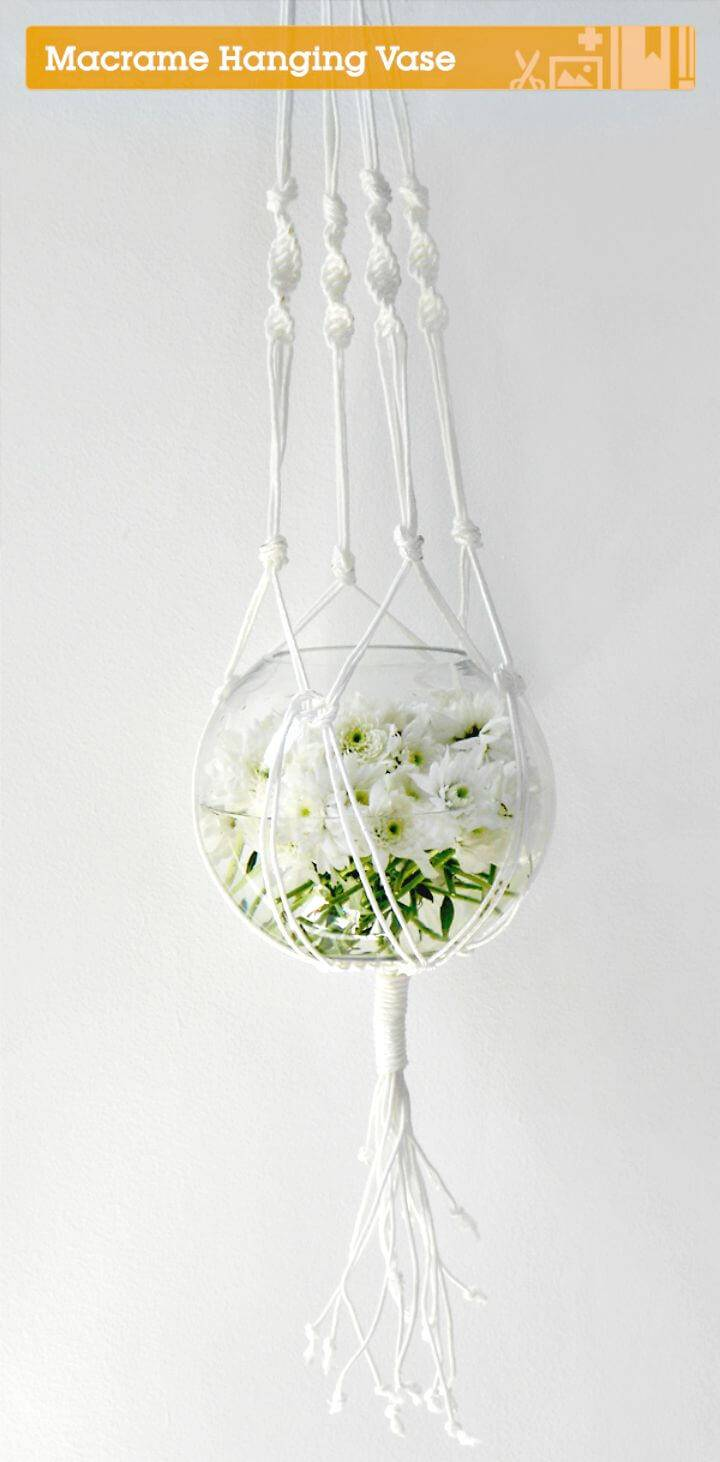 DIY Stunning Macrame Hanging Vase