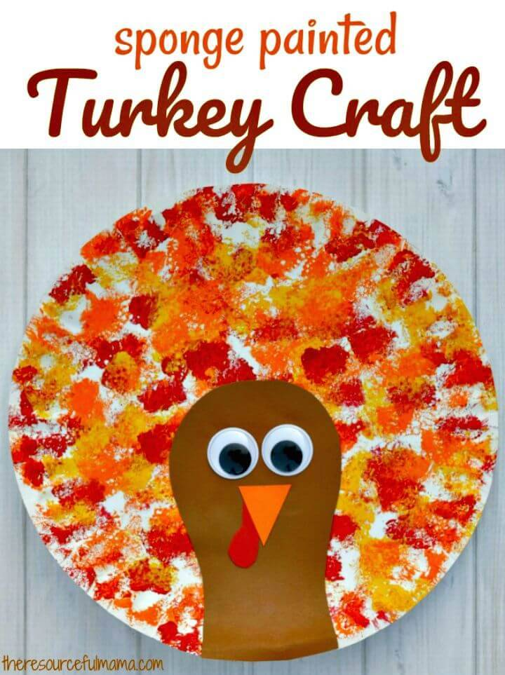 Create Sponged Painted Thanksgiving Turkey Craft