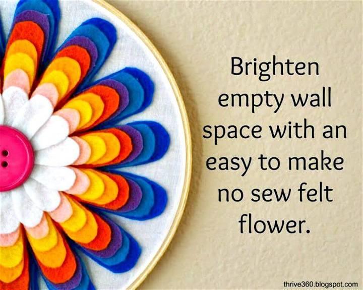 How to Make Felt Flower Wall Art