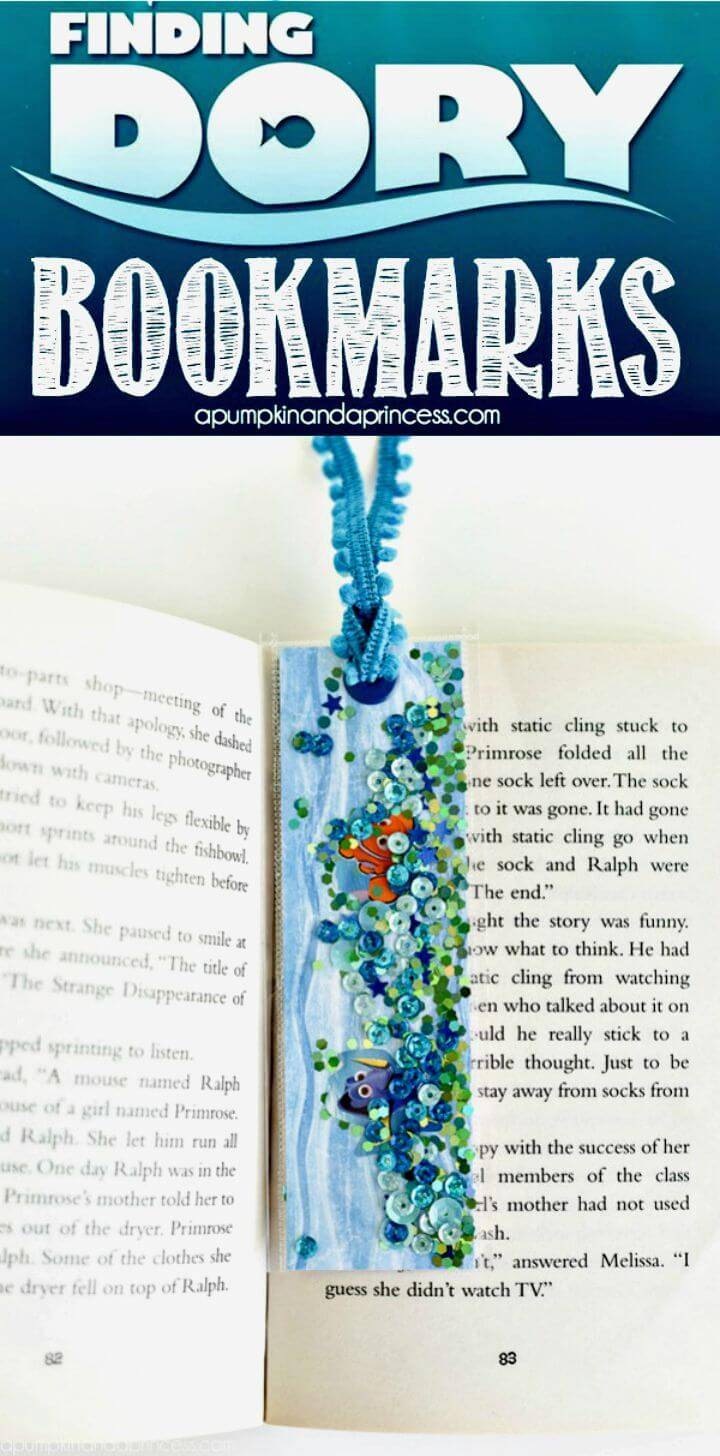 Cute DIY Finding Dory Bookmarks