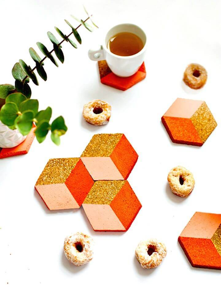 Cute DIY Geometric Coasters