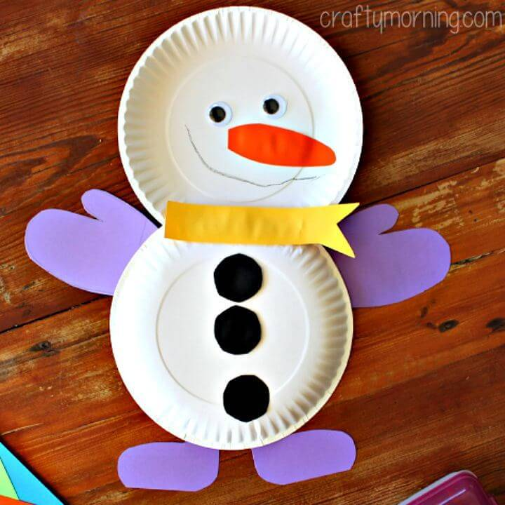 How to Make Paper Plate Snowman Craft - DIY