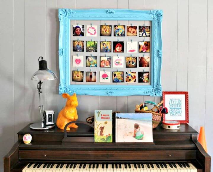 DIY Photo Frame Of An Old Picture Frame