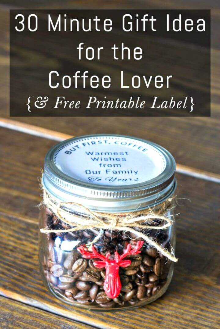 DIY 30 Minute Gift Idea for The Coffee Lover