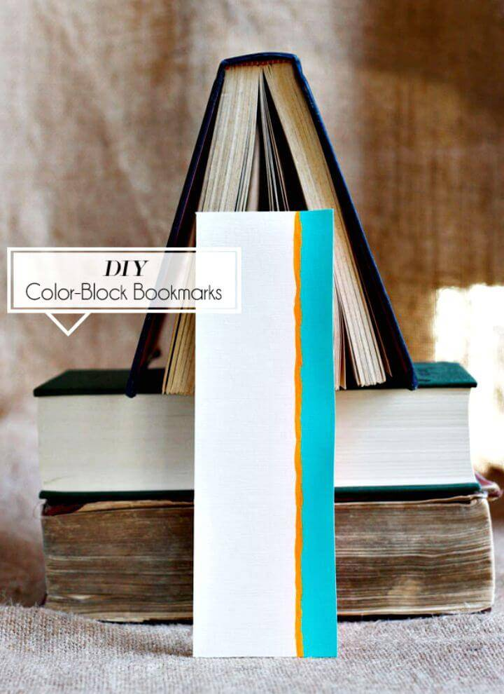 DIY Color-block Bookmarks