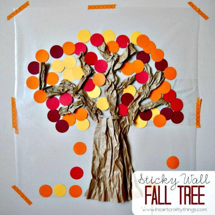 DIY Contact Paper Sticky Wall Fall Tree