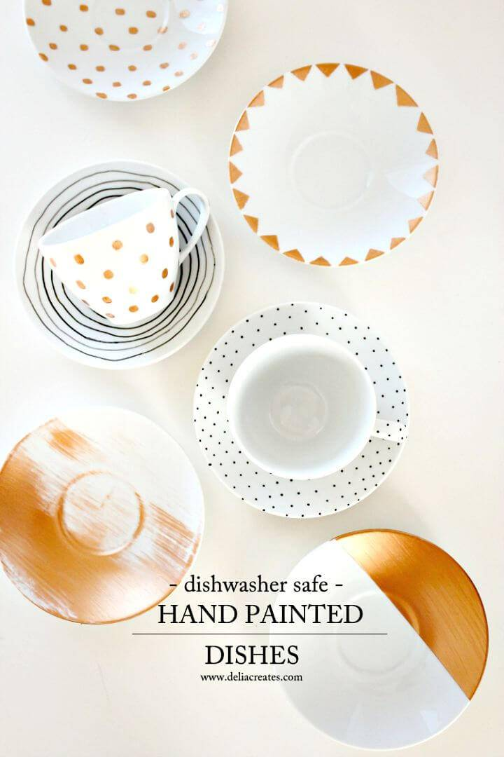Easy DIY Dishwasher Safe Painted Dishes