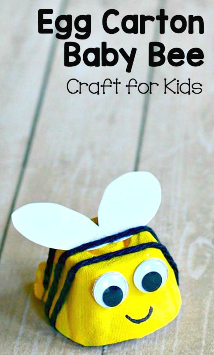 How to Make Egg Carton Bee Craft for Kids