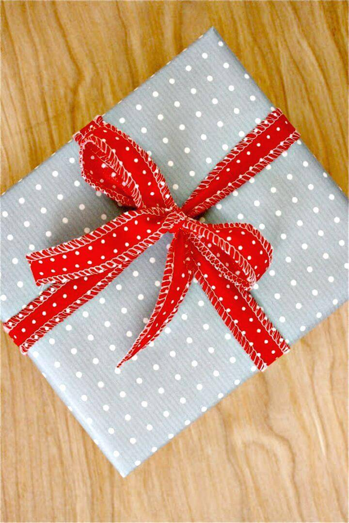 DIY Fabric Ribbon for Gift Wrapping