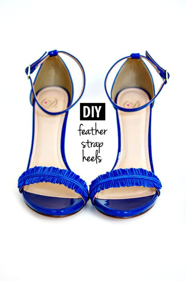 DIY Feather Strap Heels