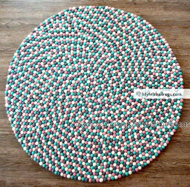 How to Make Felt Ball Rug - DIY