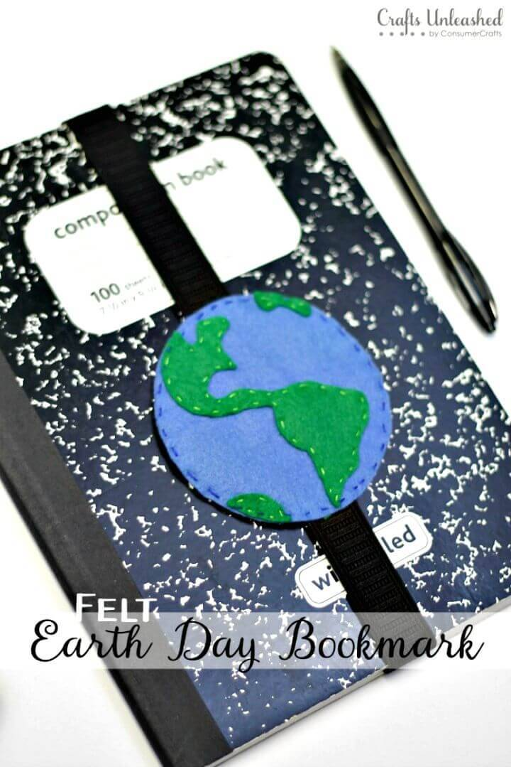 How to Make Felt Earth Day Bookmark