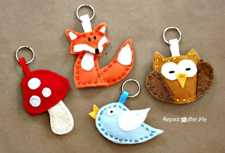 How to DIY Felt Forest Friends Keychains