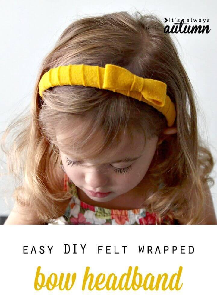 DIY Felt Wrapped Headband for Little Princes