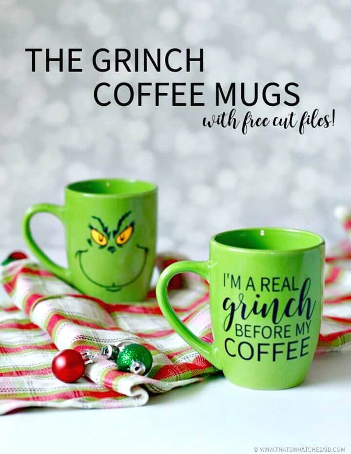 How to Create Grinch Coffee Mugs - DIY for Coffee Lovers