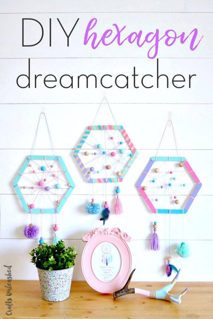 Awesome DIY Hexagon Dreamcatchers for Kids