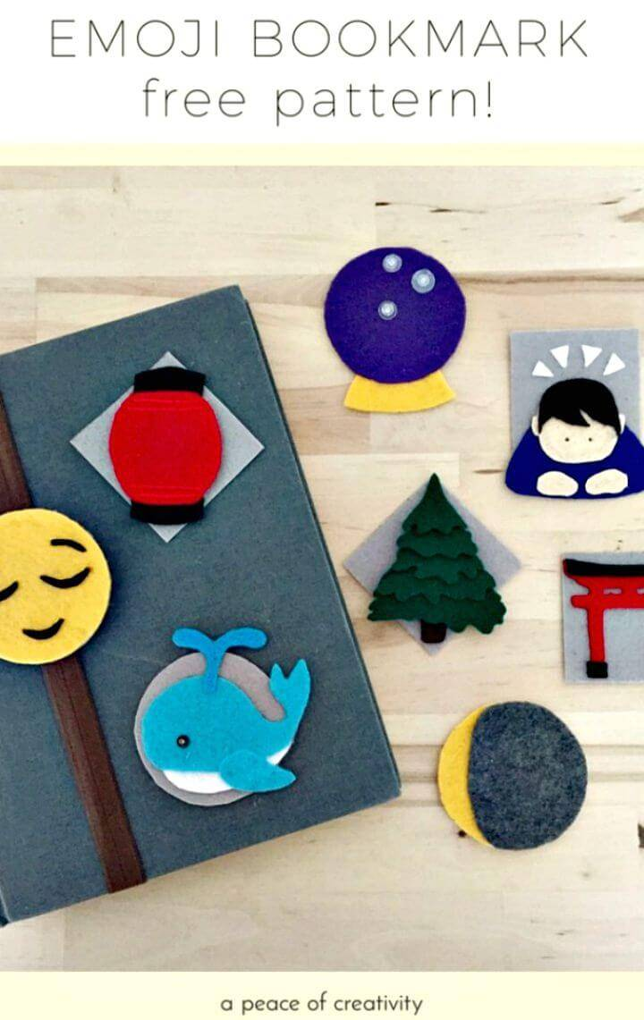 DIY Interchangeable Emoji Bookmark