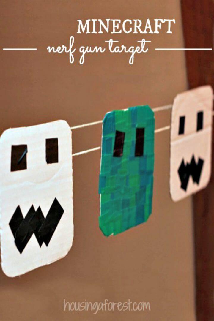 Create Minecraft Nerf Gun Target - DIY