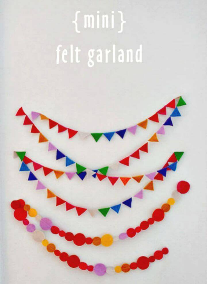 How to DIY Mini Felt Garland