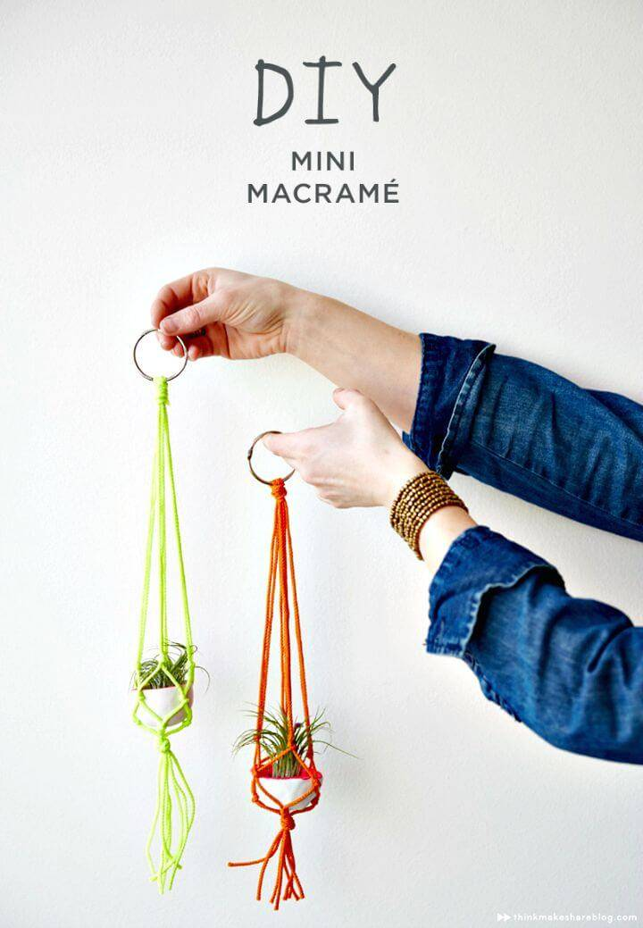 DIY Mini Macrame Plant Hangers